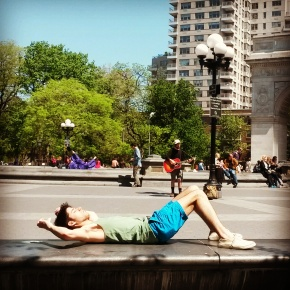 Relaxing in New York